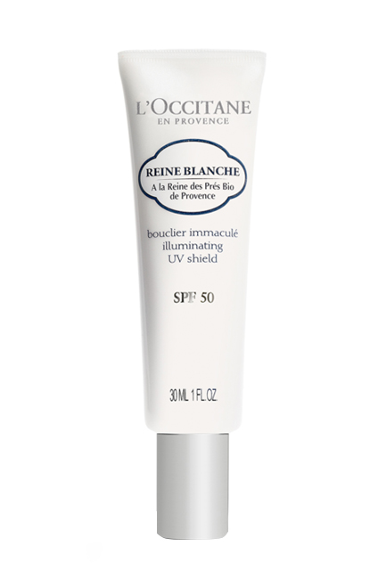 Reina Blanche Illuminating UV Shield SPF 50, L'Occitane